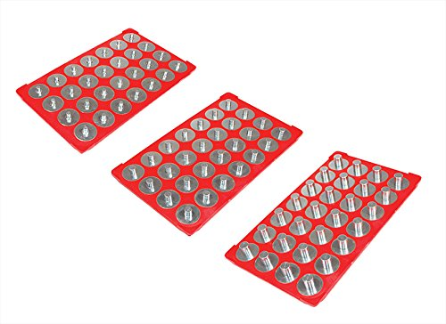 MagClip 72430magnetisch Socket Caddy Pack für 1/10,2cm 3/20,3cm & 1/5,1cm Antrieb Größe Sockets mit 28Austauschbare Knöpfen jeden (3Stück) - Socket-caddy