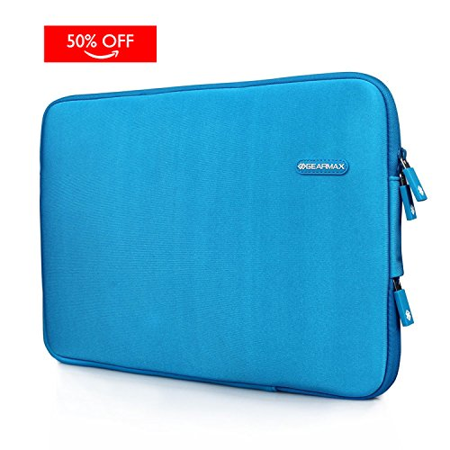 WIWU Neopren Notebook Hülle für Macbook Pro Retina 15,4 Zoll Display Wasserdicht Computer Tasche / Tablet Beutel Stoßfest Schutzhülle Klassik Stil (Blau, 15 Zoll) (Eco Freundliche Aktentasche)