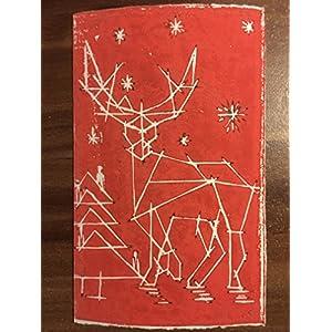 Handgedruckte Klappkarte mit Umschlag aus Büttenpapier