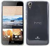 cofi1453 Silikon Hülle kompatibel mit HTC Desire 830 Tasche Case Zubehör Gummi Bumper Schale Schutzhülle Zubehör in Transparent