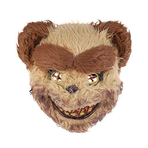 Holibanna Halloween Cosplay Kostüm Maske blutigen Bären Prop Dress-up Zubehör für Maskerade Party Leistung (Goldene Bären Kostüm)