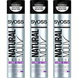 SYOSS Natural Mouv Laque Tenue Ultra 400 ml - Lot de 3