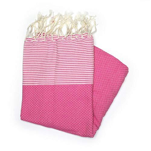 Zanzibar Fuchsia-Handtuch, 100 x 200 cm, 100{9e611a57702e8583ce21d2eaeb0b93aaf705b489f5ac72a6a1c42e697d3dbf21} Baumwolle, wahrscheinlich das vielseitigste Handtuch, das Sie jemals für Sich selbst kaufen oder als Geschenk kaufen Werden.