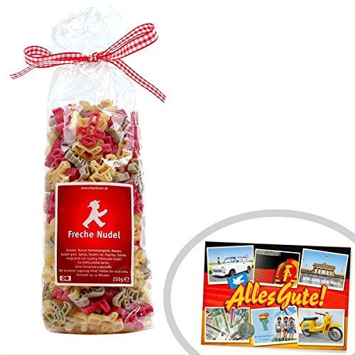 Nudeln Ampelmännchen | INKL DDR Geschenkkarte | DDR Artikel | Ideal für jedes DDR Geschenkset | DDR Traditionsprodukt und Ossi Kultprodukt | Ostprodukte
