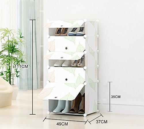 GRY Assemblée simple de Cabinet de chaussure simple stockage en plastique simple multicouche antipoussière de support de chaussure de résine de ménage,96 37 75 cm