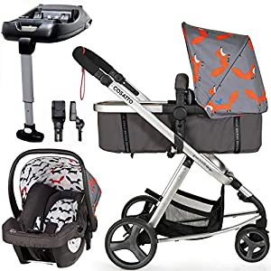 Cosatto Giggle Mix pram and Pushchair Mister Fox with car seat Base & raincover   12