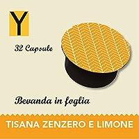 Capsule compatibili con le macchine Nescafè dolce gusto - TISANA ZENZERO E LIMONE in foglia - Confezione da 32 capsule.