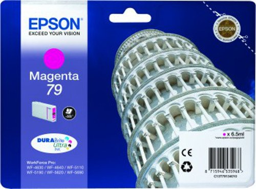 Epson 79 Serie Torre, Cartuccia Originale Getto d'Inchiostro DURABrite Ultra, Formato Standard, Magenta, con Amazon Dash Replenishment Ready