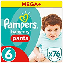 PAMPERS Baby-Dry Pants tamaño 6, 15 + kg, pañales, 1er Pack (1 x 76 unidades)