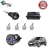 #4: myTVS TPK-57 Silver Reverse Car Video Parking Sensor Kit with 8 LED Night Vision Camera for Hyundai i20