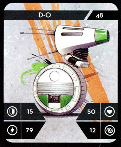 Star Wars Kaufland Sammelkarten Album einzelne Karten incl.WIZUALS Sticker (48-D-O-48-NORMAL)
