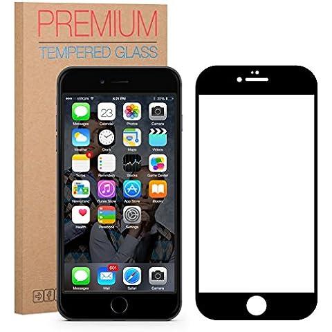 FUTLEX Premium Protector de pantalla de vidrio templado para iPhone 6 / 6S - Negro - PROTECCIÓN COMPLETA - vidrio de dureza 9 H - grosor de 0,33 mm - transparencia de alta definición - bordes redondeados 2,5 D - antigolpes - recubrimiento oleofóbico - tacto delicado - vidrio de alta calidad - fácil de instalar - adhesivo de silicona sin burbujas - vidrio japonés