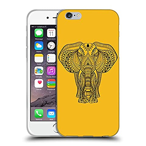 GoGoMobile Coque de Protection TPU Silicone Case pour // Q08170602 Éléphant indien 1 ambre // Apple iPhone 7