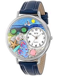 Whimsical Watches WHIMS-U1210015 - Reloj analógico de cuarzo unisex con correa de piel, color azul