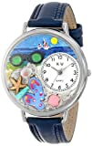 Whimsical Watches Unisex U1210015 Flip-flops Navy Blue Leather Watch best price on Amazon @ Rs. 1301