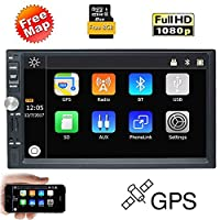 EinCar 7 Inch Touch Screen Car MP5 Player In Dash GPS Navigation Car Stereo MP3 Player 2 Din In Dash Bluetooth FM Radio 1080P Video Multimedia Receiver Support USB/SD/TF/AV-IN/Steering Wheel Control