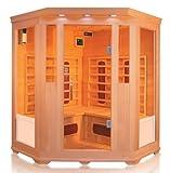 Cabine de sauna d'angle à infrarouge pour 4personnes Promotion
