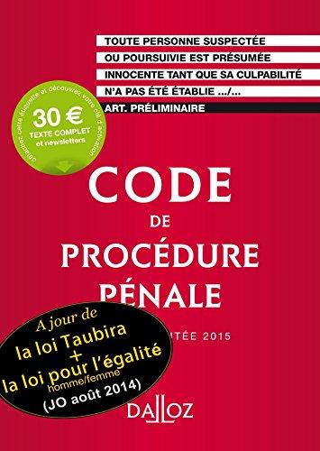 Code de procédure pénale 2015 par Coralie Ambroise-Casterot