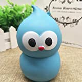 Slow Rising Toys Made By Moginp,Cute 10CM Squishy Bird Fun Scented Charm Toy Gift Relieve Stress Squeeze Strap Kids Toy Phone Charm Gift For Children And Adult (Blue)