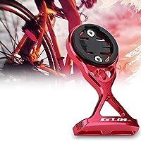 Jadpes Extensión del Soporte del cronómetro de Bicicleta, aleación de Aluminio Bicicleta Odemeter Soporte de extensión de computadora con Adaptador Accesorio de Bicicleta(Rojo)