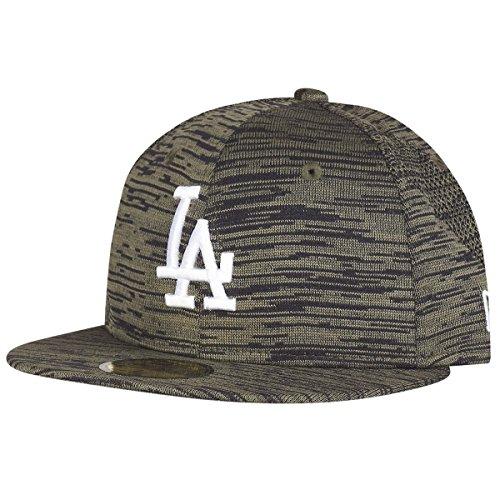 New Era Herren Caps / Fitted Cap Engineered Fit LA Dodgers 59Fifty olive 7 5/8 - 60,6cm (Olive Brim Cap)