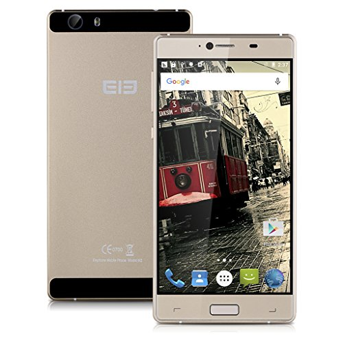 Foto Elephone M2 Smartphone 3GB 32GB 5,5 pollici FHD 64bit MTK6753 Octa core Android 5.1 oro