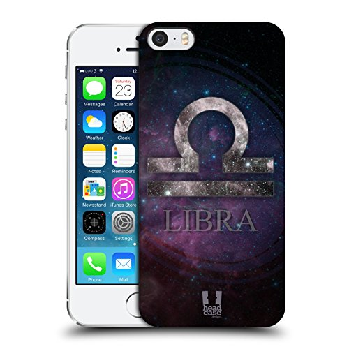 Head Case Designs Sagittario Nebulose Zodiacali Simboli Cover Retro Rigida per Apple iPhone 5 / 5s / SE Bilancia