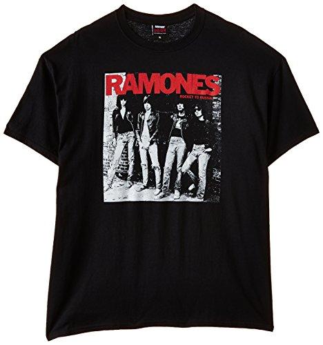Unbekannt Ramones Rocket to Russia - Camiseta para hombre, color schwarz/schwarz, talla S/S