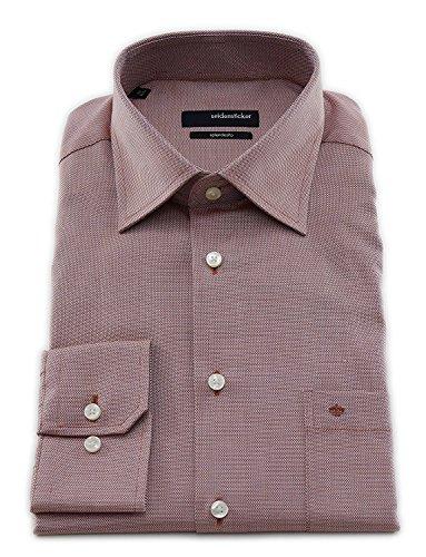 Seidensticker Herren Langarm Hemd Splendesto Regular Fit Kent rot strukturiert 110900.43 Rot