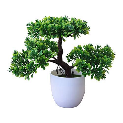 Gespout Plante en Pot Plante Artificielle Ganoderma Lucidum Arbre Bonsaï de Simulation Extérieur Plante Verte Décoration d'intérieur Salon Table à Manger Chambre Bureau Ornem