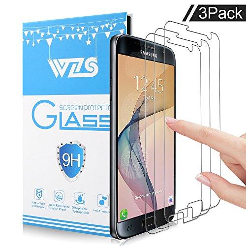 [3-Unidades]Protector de pantalla Galaxy S7, WZS® Cristal Vidrio Templado Premium Para Samsung...