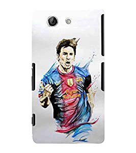 Sony Xperia Z4 Compact :: Sony Xperia Z4 Mini football player footballar player Designer Printed High Quality Smooth Matte Protective Mobile Case Back Pouch Cover by Paresha