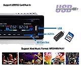 AGPtEK Autoradio USB/MP3 Player/AUX Anschluss/TF-Karte mit Bluetooth und Mikrofon inkl. Fernbedienung 12V - 3
