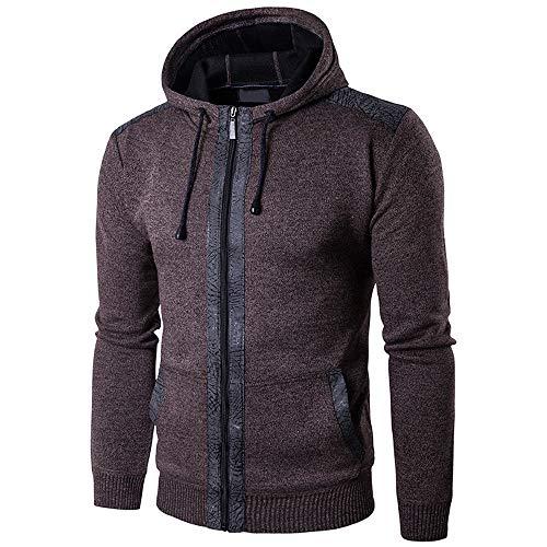 MIRRAY Herren Solide Langarm Casual Hoodie Pullover Sweatshirt Outwear Tops