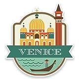 2 x 15cm/150 mm Venise Italie Autocollant de fenêtre en verre Voiture Van Locations #9187