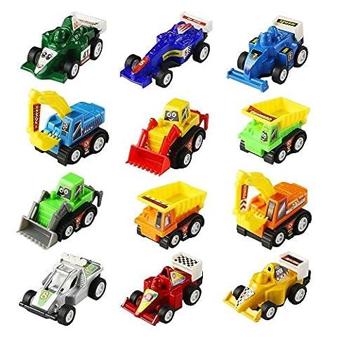 Mini Spielzeugautos Fahrzeuge Modell Lkw Bagger Bulldozer Rennwagen Spielen für