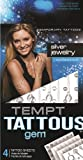 Tempt Tattous Temporary Tattoos, Silver Jewelry, 3 Ounce by Tempt Tattous
