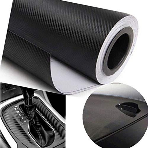 WANGSAURA 3D Autofolie Carbon Vinyl Wrap Flexibel Fiber 127cm x 30cm - Auto Motorrad, Laptops, Handys, PC-Gehäusen (Schwarz, 127 * 30cm)