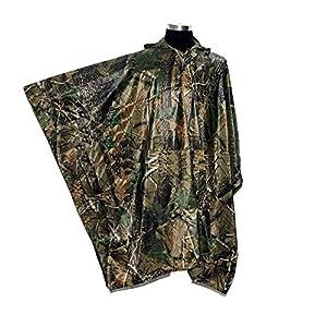 LOOGU Militaire Multifonction Realtree Camouflage imperméable Poncho de Pluie pour Adultes