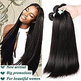 Fairgreat Straight Brazilian Virgin Hair 3 Bundles Top Grade 8A Unprocessed 100% Human Hair Natural Color Mixed Length 12-30inch (10 12 14inch)