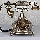 DIANHUA Antikes Telefon Retro Weinlese-klassisches Telefon Wählscheibe Festnetztelefon Altmodisches...