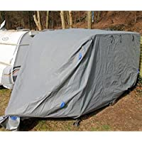 incubado Wetterfeste Wohnwagen Schutzhülle/Wohnmobil Abdeckung/Abdeckplane Caravan Plane (M - 5,5 m Länge)