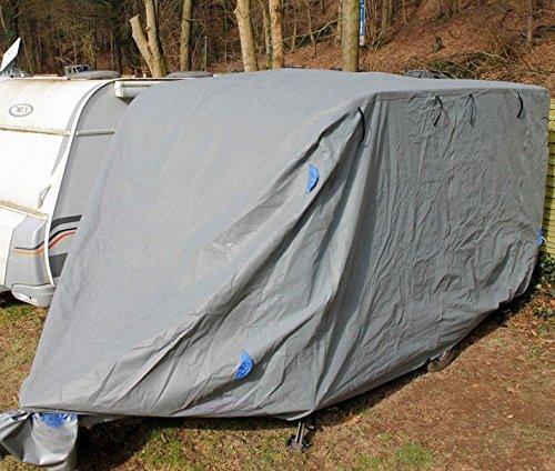 incubado Wetterfeste Wohnwagen Schutzhülle/Wohnmobil Abdeckung/Abdeckplane Caravan Plane (L - 6,1 m Länge)