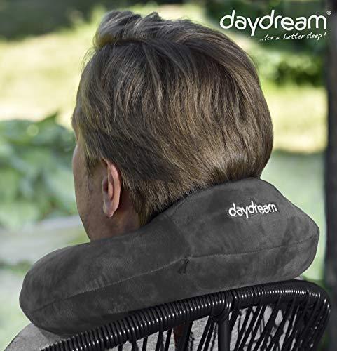 daydream: Reise-Nackenkissen mit Kopfstütze aus Memory Foam, verschiedene Farben (N-5361), Nackenhörnchen, Reisekissen, Nackenstützkissen