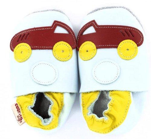 Cuquito doux chaussons bébé Chaussures premiers pas chaussures de bébé Poussoir de Cuir cuir Voiture
