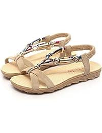 Naturazy Verano Sandalias Gamuza De Alta Calidad Zapatos Casuales Peep-Toe Zapatos Bajos Romano Sandalias