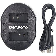 Dot.Foto Nikon EN-EL20, EN-EL20a USB Cargador Doble con Micro USB para Nikon 1 Series J1, J2, J3, J4, S1, S2, AW1 | Nikon Coolpix A | Blackmagic Pocket Cinema Cámara