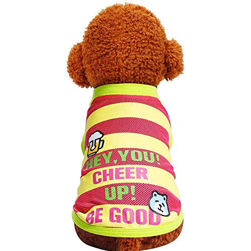 EUZeo Cute Dog Clothes Hunde-T-Shirt Kostüme Briefe Gedruckt Pullover Hundeshitrs Weaste Hündchen Hunde Hemden Kleiner Hund Shirts ()