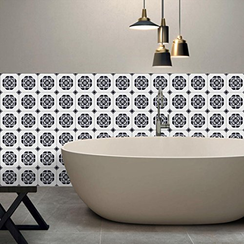 Price comparison product image Momola 1×Roll Self Adhesive Waterproof Tile Art Wall Decal Sticker DIY Kitchen Bathroom Living Room Decor Vinyl Wallpaper Home Decorative Accessories (Colorful D)