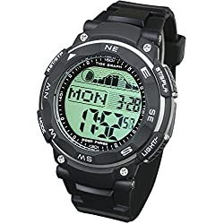[LAD WEATHER] Tide graph watch Moon phase High & Low tide Pacer Fishing/ Surfing/ Diving